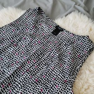 Ann taylor | dressy black office blouse